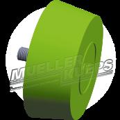 Conical eraser for rims